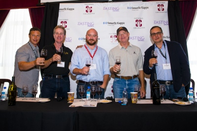 Paso Robles CAB Collective: Halter Ranch Winemaker, Kevin Sass; Parrish Family Vineyard Winemaker, David Parrish; moderator, Matt Kettman; Chateau Margene Winemaker, Michael Mooney, DAOU Vineyards & Winery Winemaker, Daniel Daou